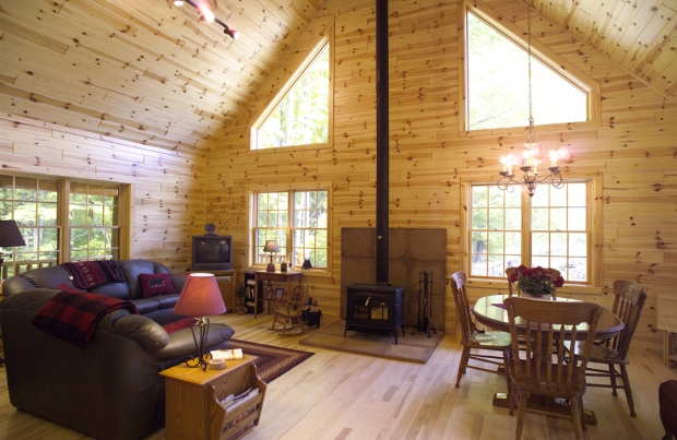 Pine Paneling For Your Home Bring You A Modern Frontier