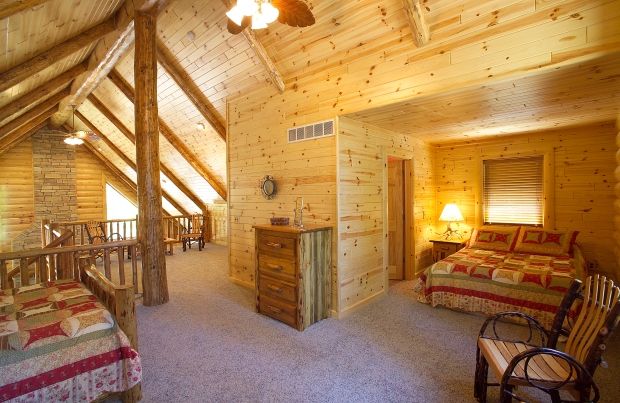 Build A Rustic Home Interior With Our Pine Log Paneling