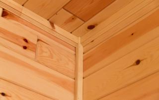 knotty pine ceiling trim
