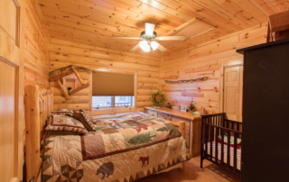 Beautiful Knotty Pine Paneling Bedroom