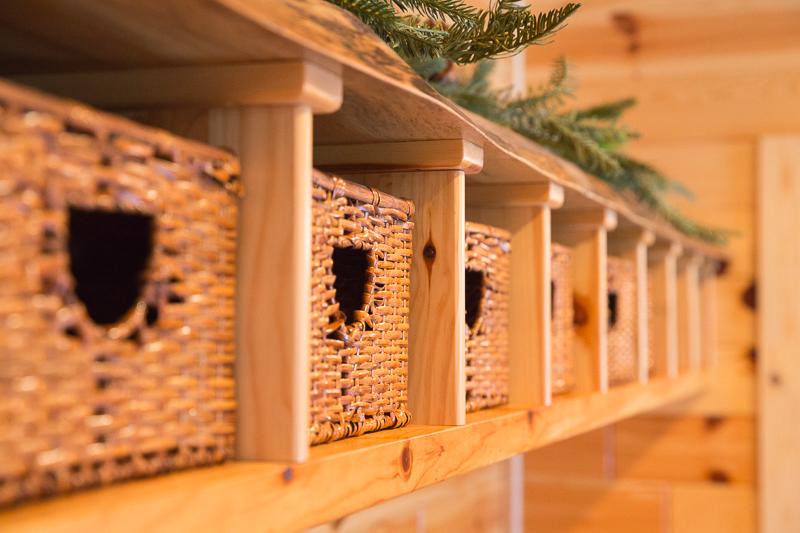 knotty pine organizer