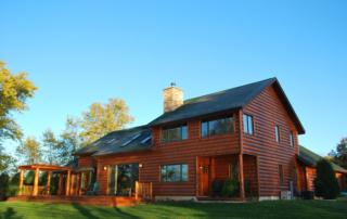 Log Siding Home