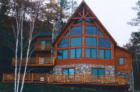 Log Siding Cottage on the Lake