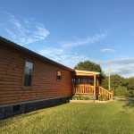 Log Siding on Manufactured Home