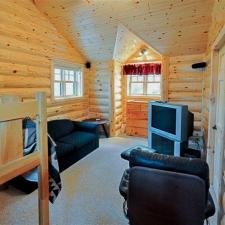 Log Siding Sitting Room