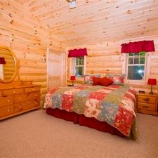 Half Log Siding Bedroom
