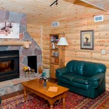 living room log siding