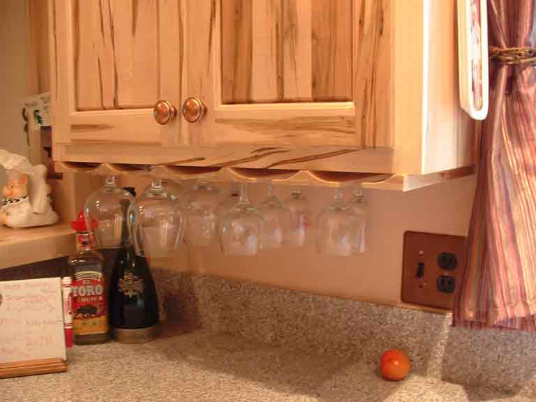 Ambrosia Red Maple Wine Glass Rack