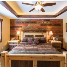 Barnwood Accent Wall - Canyon Ridge w/Chestnut 3211 Stain added