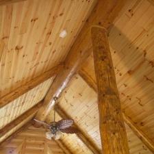 Log beam rafters