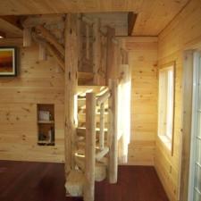 Circular Log Stairway and Railing