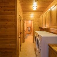 1x6 Cedar Paneling & Cedar Cabinetry - Laundry Room