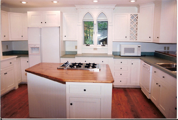 Custom White Painted Kitchen
