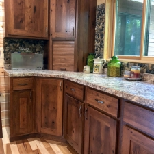 Custom Stained Hickory Cabinetry