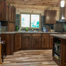 Custom Stained Hickory Cabinetry 4