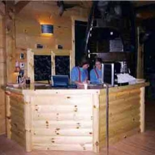 Knotty Pine Rustic Log Style Reception Desk