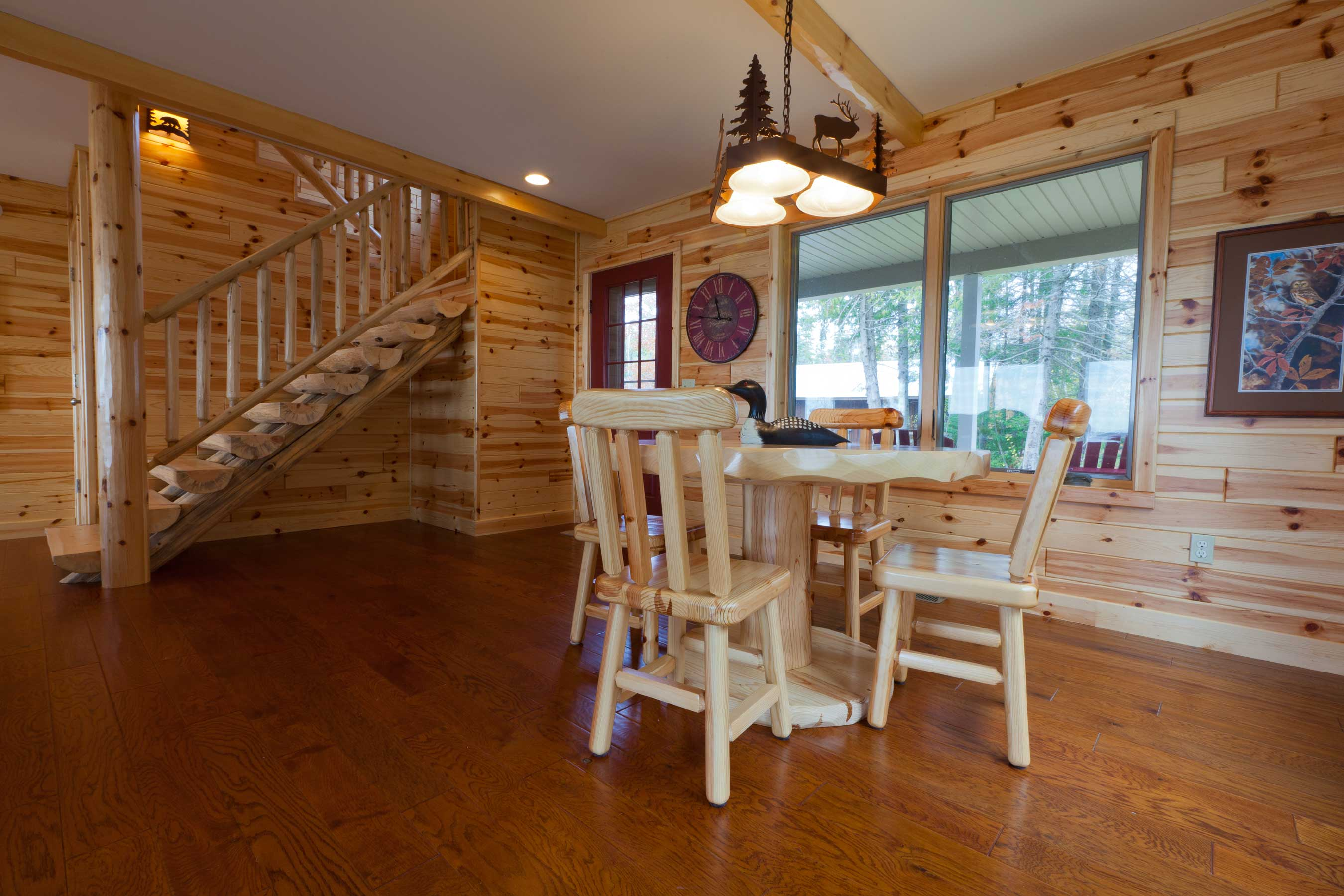 Knotty Pine Paneling Tongue And Groove Prefinished Dining Room