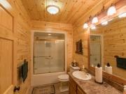 Knotty Pine Paneling Bathroom