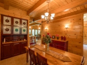White Pine Paneling Dining Room w/ 2x8 White Pine Loft Decking and Timbers
