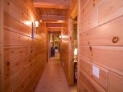 1x8 White Pine Paneling Hallway w/Light Stain