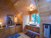 1x6 Prefinished Knotty Pine Paneling Bathroom w/Stain