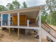 Cedar Paneling on Lakefront Home