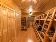 Knotty Pine Paneling Bunk Bedroom
