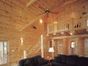 Log Home-knotty pine paneling