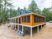 Exterior Cedar Paneling Jacuzzi Room