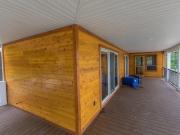 Exterior Cedar Paneling Porch
