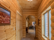 Knotty Pine Paneling in Hallway