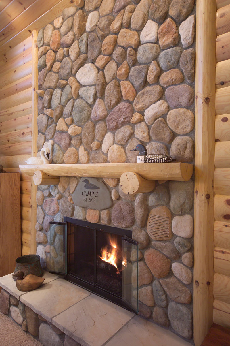 Log Mantels & Accessories | Rustic Fireplace Mantels