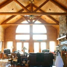 Interior Log Trusses