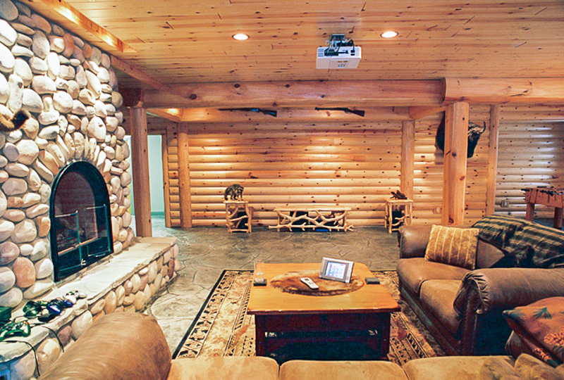 Rustic Man Cave Build Your Own Log Cabin Man Cave