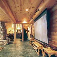 Man Cave Log Beam Wraps