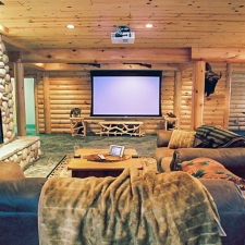 Man Cave Basement Movie Screen