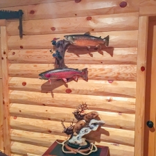 Man Cave Log Siding