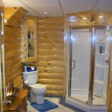 Man-Caves Log Siding Bathroom