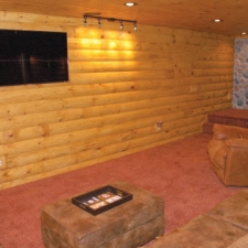 Man-Caves Log Siding