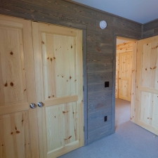 Barnwood Paneling Bedroom Closest Wall