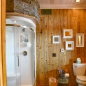 Bathroom Barnwood with Puritan Pine Stain