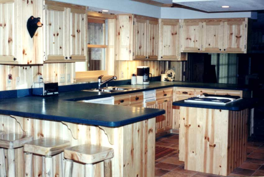 Knotty Pine Insert Kitchen