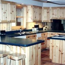 Knotty Pine Insert Kitchen