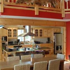 Custom Knotty Pine Kitchen w/ Glass Doors