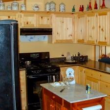 Knotty Pine Panel Insert Kitchen