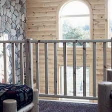 Knotty Pine Molded Railing