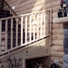 Knotty Pine Molded Stair Rail