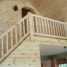 Pine Interior Railing Loft