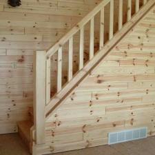Interior Pine Railing Stairway