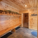 Knotty Pine Paneling Mud Room